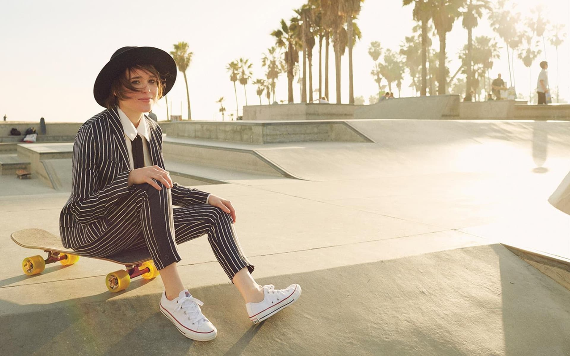 Ellen Page with skate High Quality wallpapers