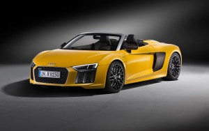 front 2017 Audi R8 Spyder V10 1080p wallpapers