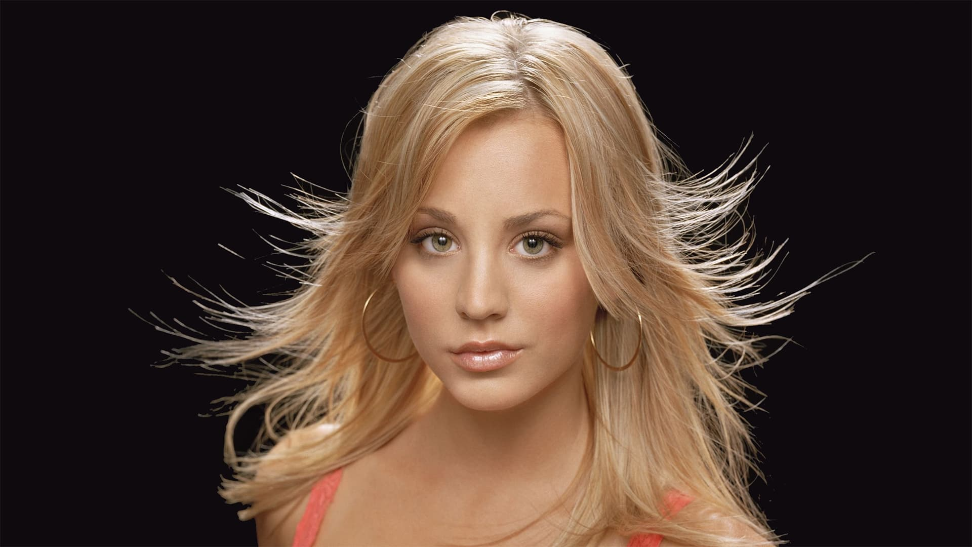 Kaley Cuoco black background wallpaper 1080p High Definition