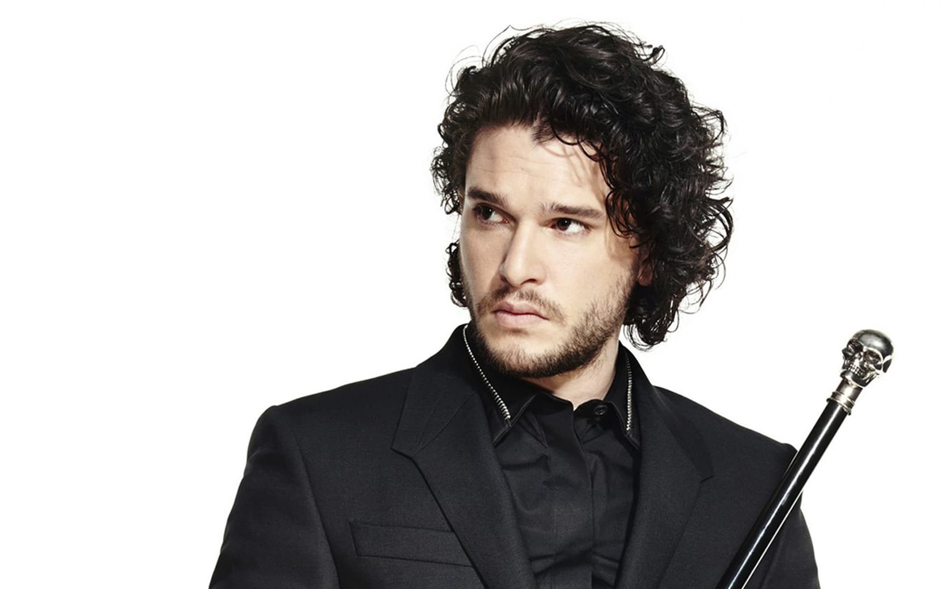 Kit Harington black suit HD images download