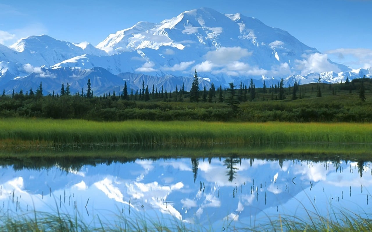 Mount McKinley lake full HD image