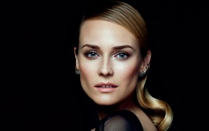 Diane Kruger widescreen wallpaper on the black background