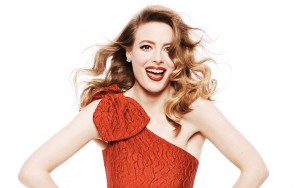 Gillian Jacobs white background red dress new pictures