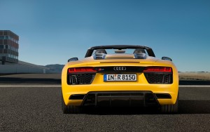 road sky 2017 Audi R8 Spyder V10 wallpaper High Resolution