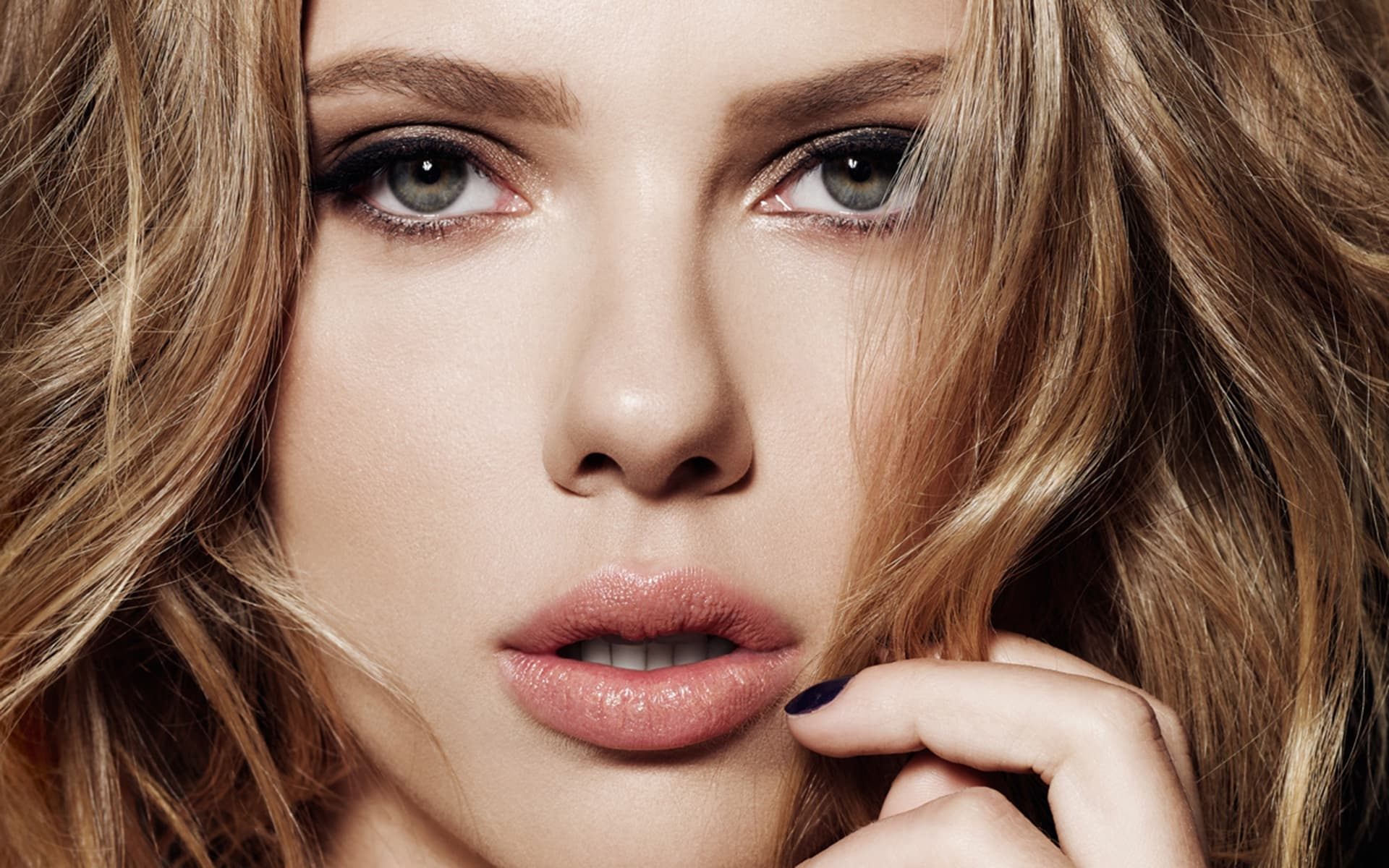 Scarlett Johansson wallpaper for desktop eyes lips Scarlett Johansson