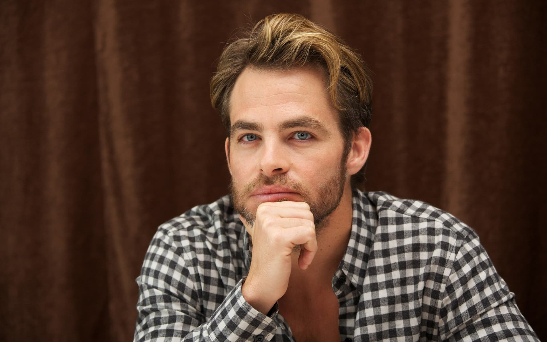 serious Chris Pine wallpapers 1080p High Definition