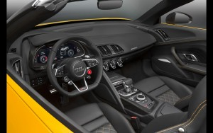steering wheel 2017 Audi R8 Spyder V10 wallpapers for Desktop