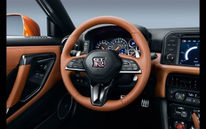 steering wheel 2017 Nissan GT-R 1080p wallpaper High Quality