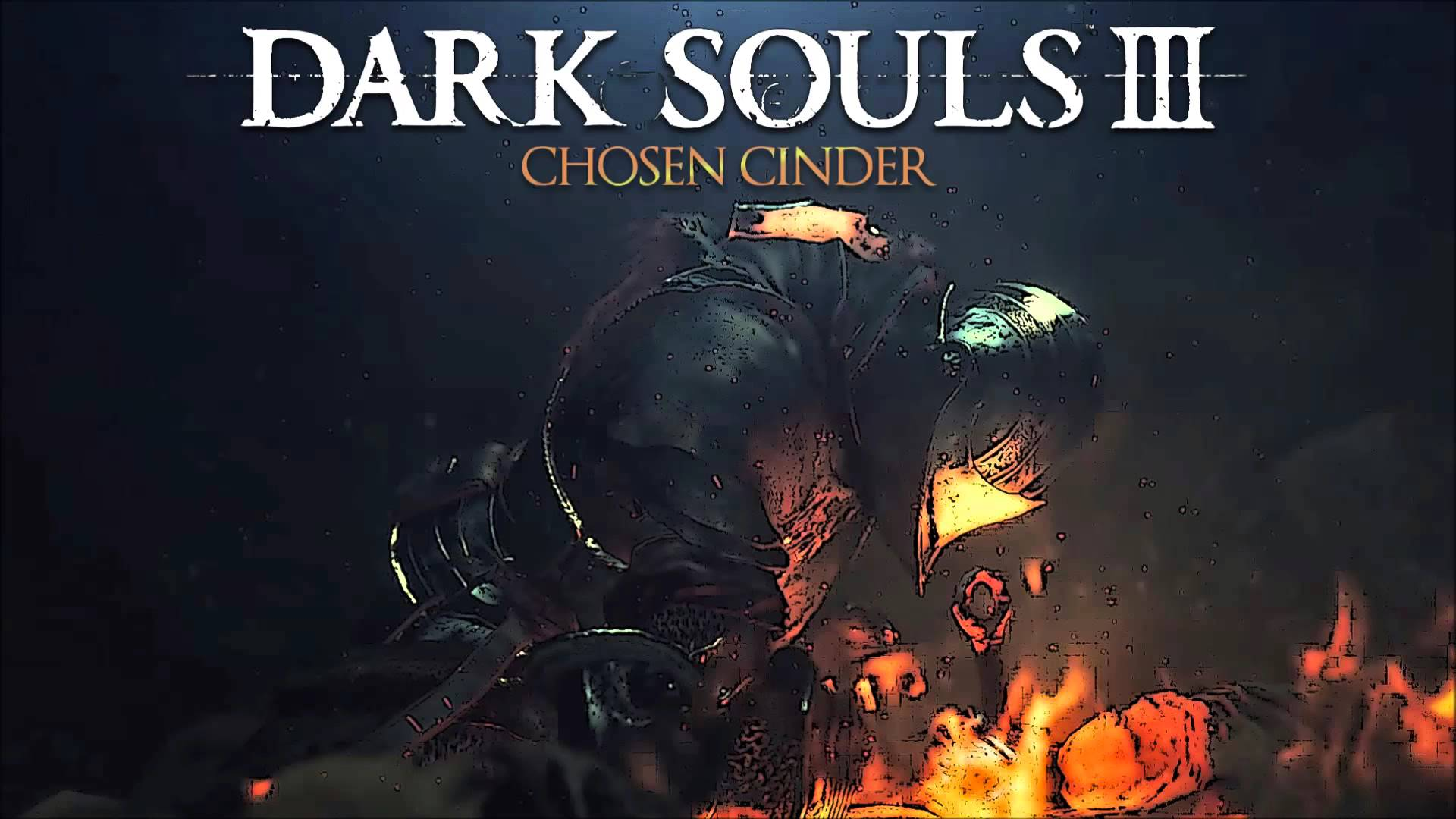 Wallpaper of Dark Souls 3 logo for Laptop
