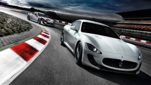 white Maserati Granturismo race HQ wallpapers