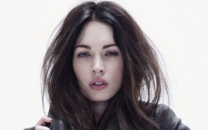 young Megan Fox background, bw wallpaper
