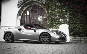 2016 Alfa Romeo 4C Spider silver High Definition