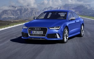 blue 2016 Audi RS7 sportback HD wallpaper for PC