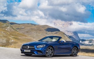 blue 2016 Mercedes Benz SL500 image HD