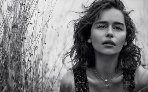 Emilia Clarke black and white wallpapers 1080p