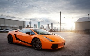 Orange Lamborghini wallpaper High Resolution