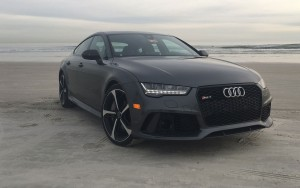 black 2016 Audi RS7 High Resolution wallpaper