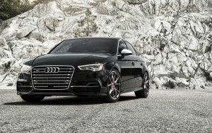 black 2016 Audi S3 sedan High Resolution wallpaper