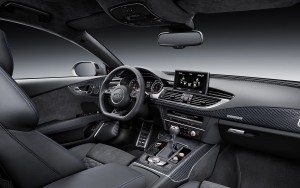 black leather 2016 Audi RS7 interior HD photo