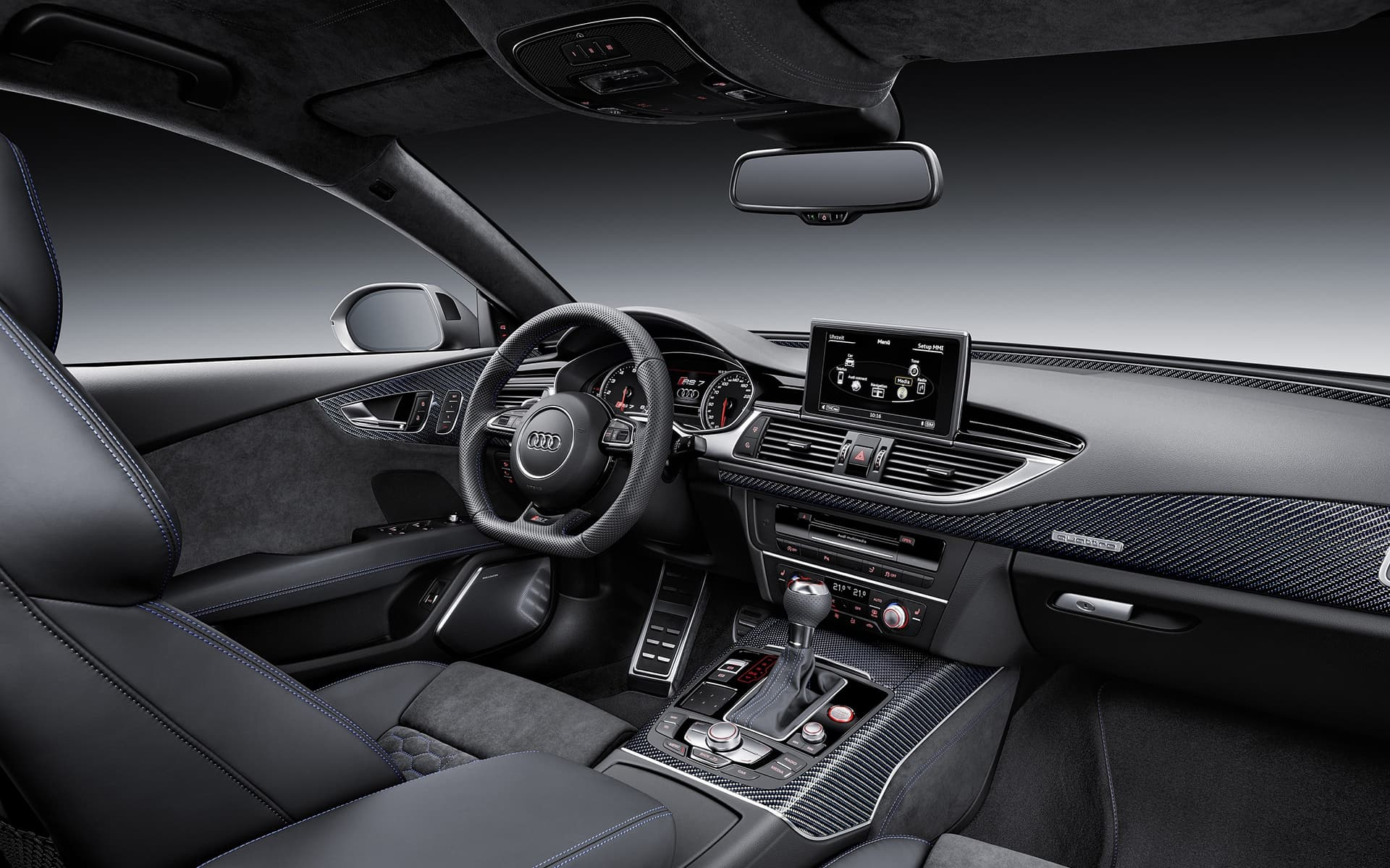 Black Leather 2016 Audi Rs7 Interior Hd Photo Hd Image 7