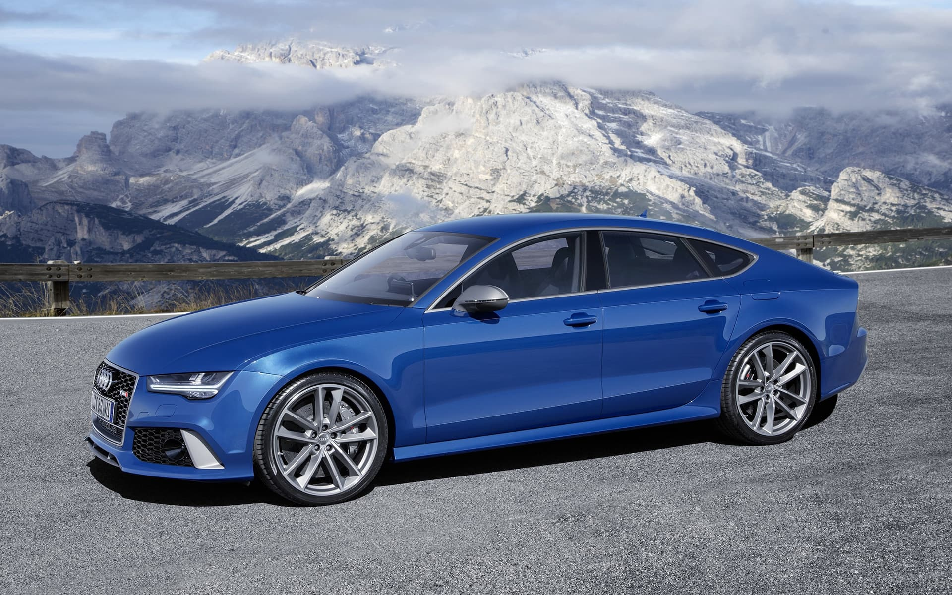 blue 2016 Audi RS7 High Quality wallpapers