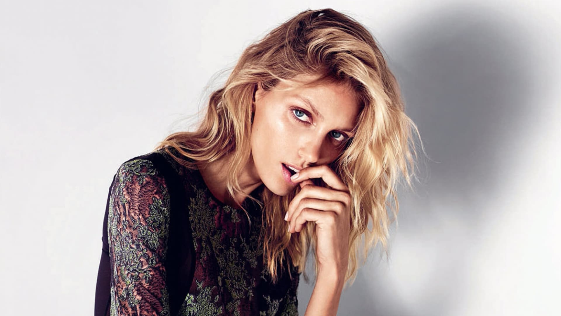 cute Anja Rubik HD wallpaper