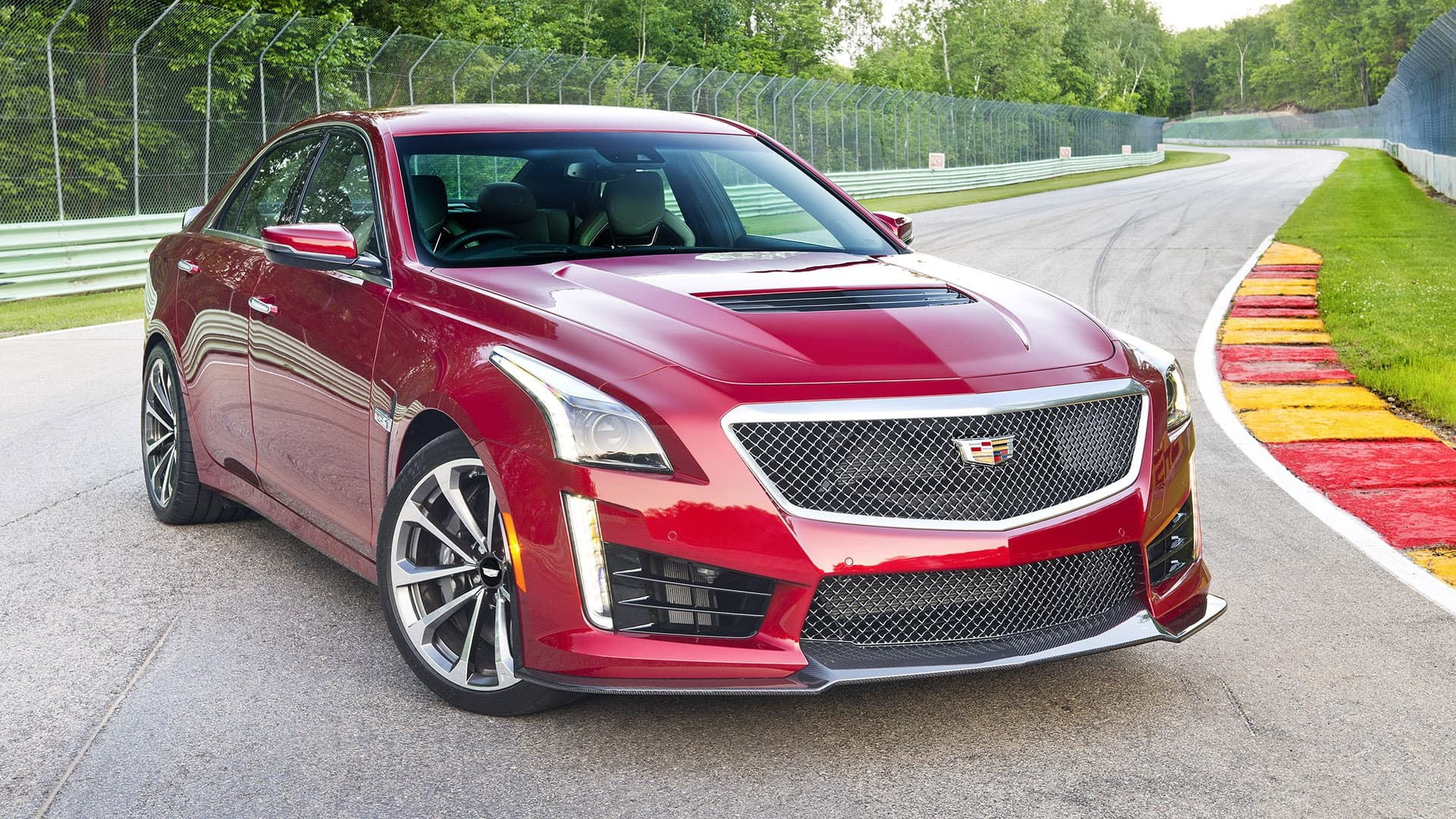 front red 2016 Cadillac CTS-V High Resolution wallpaper