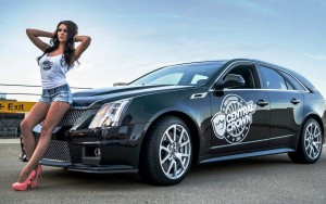 girl 2016 Cadillac CTS-V wagon HD photo