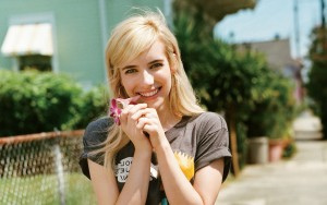 happy Emma Roberts High Resolution wallpaper