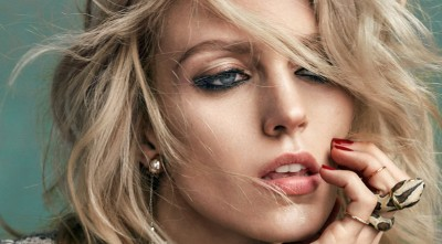 Wallpaper makeup Anja Rubik 1080p