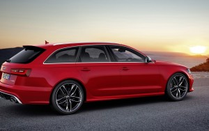 red 2016 Audi RS7 wagon wallpapers for Desktop
