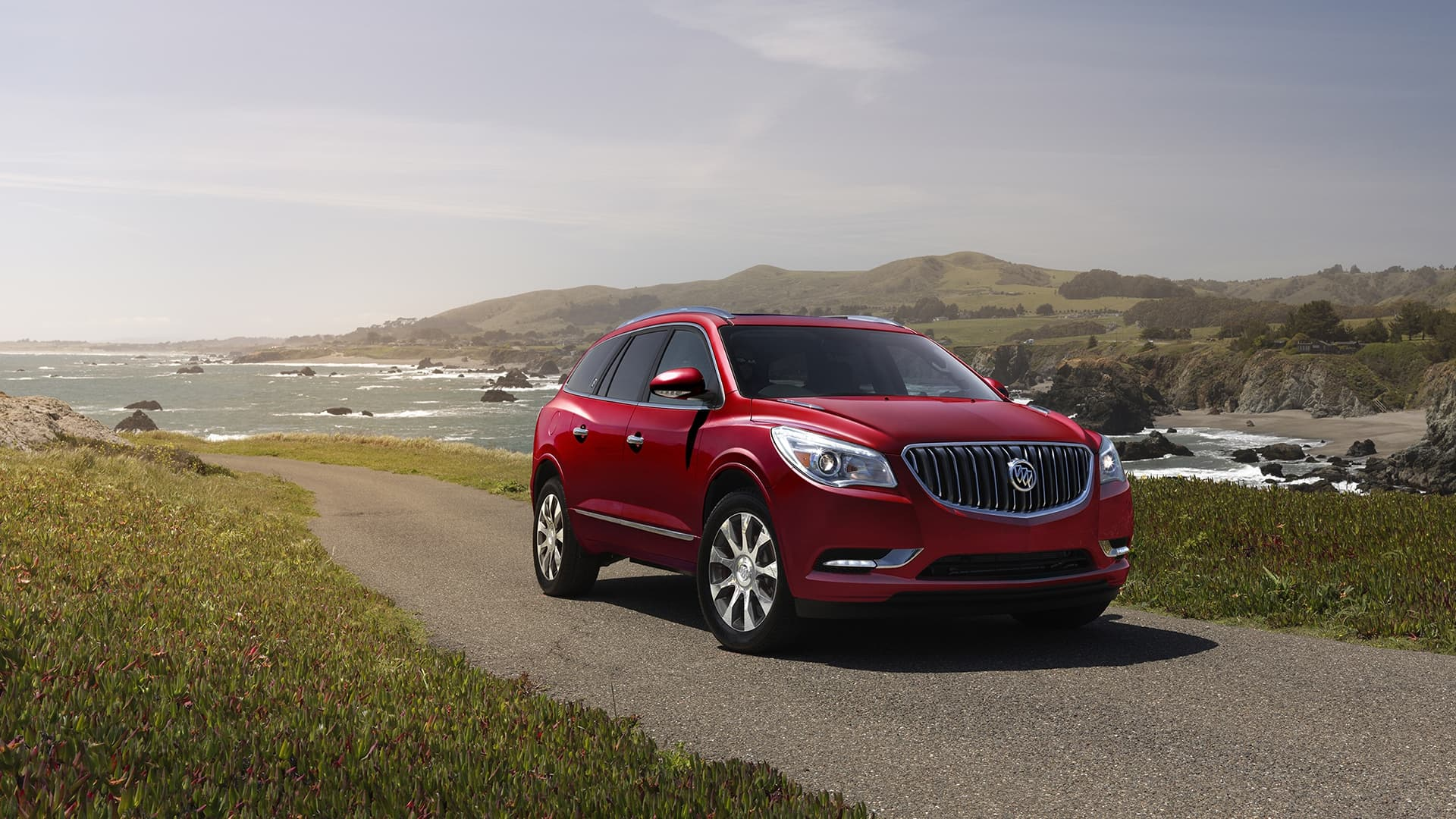 red 2017 Buick Enclave sport concept full hd pic