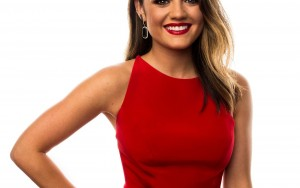 Lucy Hale red dress