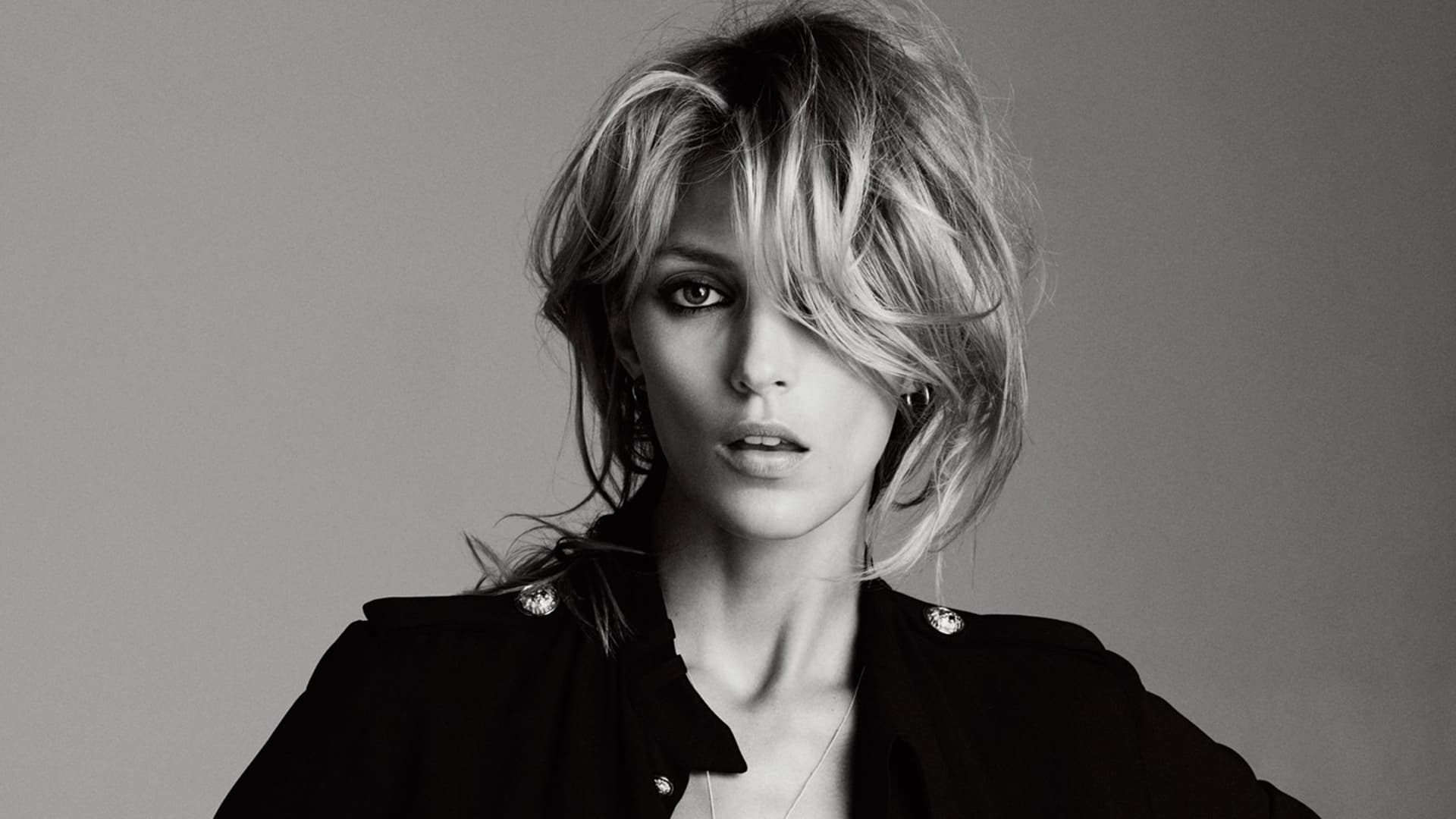 Black And White Hair Styles: Anja Rubik Wallpapers HD High Quality Resolution Download