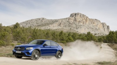 2016 Mercedes-Benz GLC Coupe drift Desktop Wallpaper 1080p