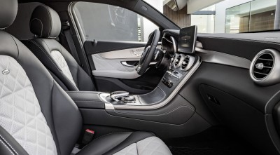 2016 Mercedes-Benz GLC Coupe High Resolution Wallpapers, leather interior