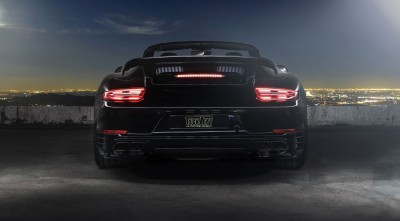 2016 Porsche 911 Cabriolet Techart Wallpapers HD black, rear