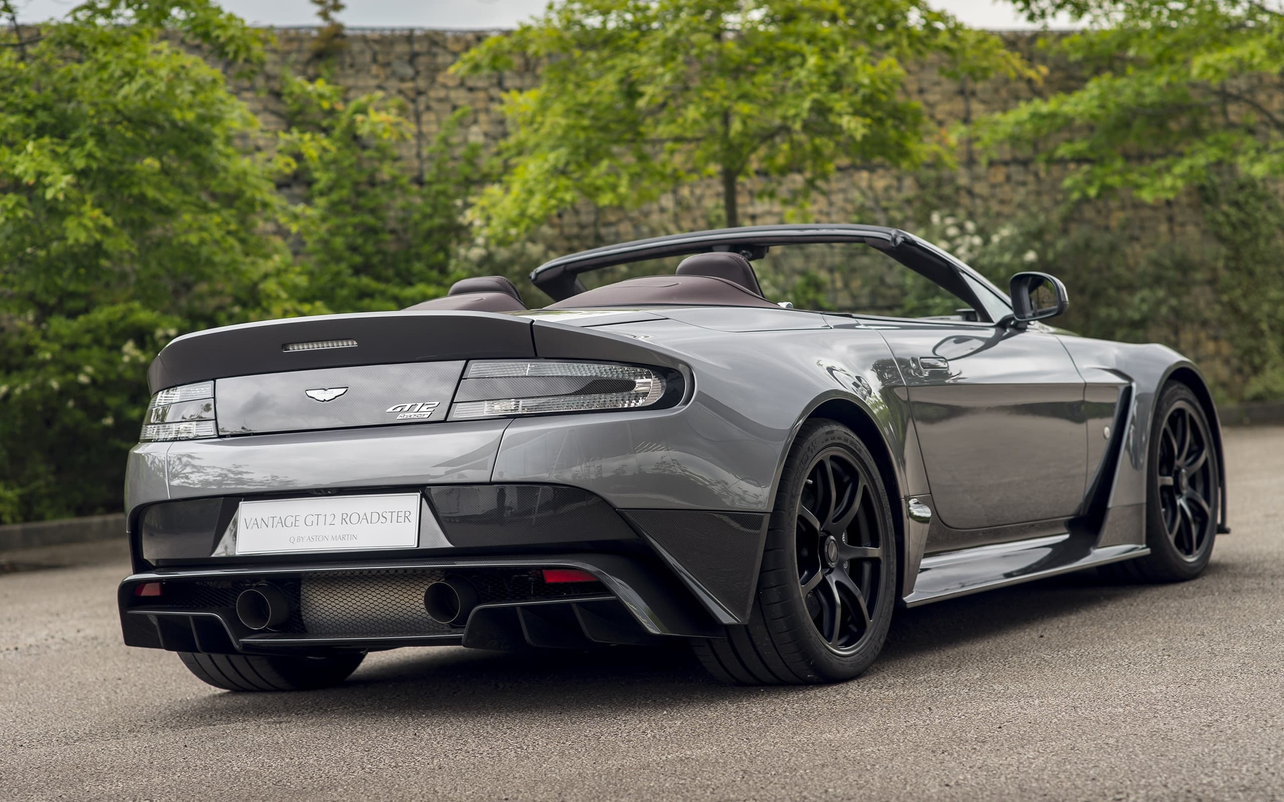 2016 Aston Martin Vantage GT12 Roadster Rear Wallpaper High Quality