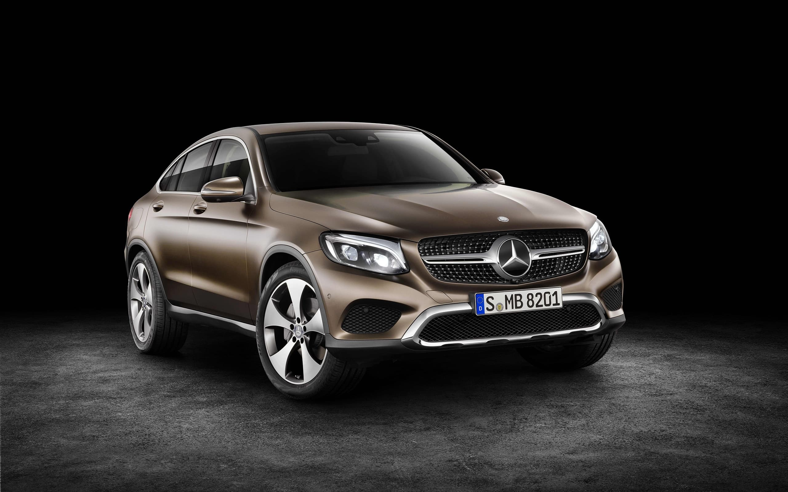 2016 Mercedes-Benz GLC Coupe front HD Wallpaper for Desktop