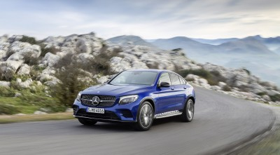 Wallpaper Blue Mercedes-Benz GLC Coupe HD for PC