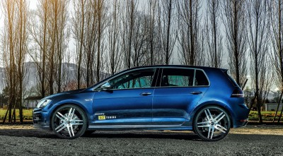 Blue Volkswagen Golf 7 R HD Pics