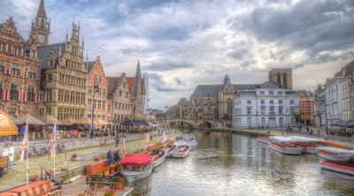 Bruges Belgium clouds High Quality Wallpapers