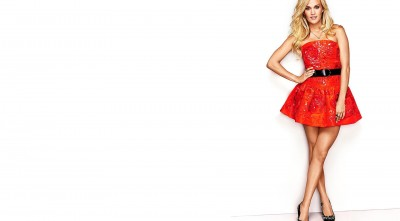 Carrie Underwood red dress Background