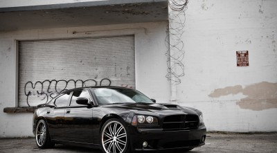 Dodge Charger Wallpapers 1080p black Vossen Wheels