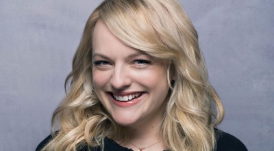 happy Elisabeth Moss Wallpaper