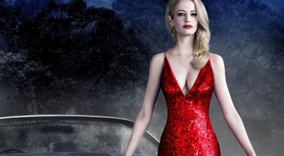 Eva Green red dress Background