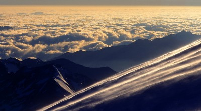 Mount Elbrus clouds beautiful landscape