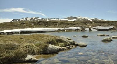 Mount Kosciuszko lake sky snow Desktop Background