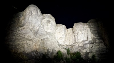 Mount Rushmore night