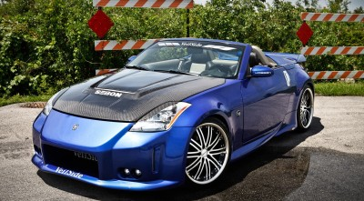 Nissan 350z Roadster Wallpapers HD Blue front bumper
